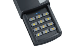 Wireless keypad for door entry